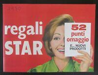 1970 REGALI STAR catalogo pubblicità raccolta punti prodotti cucina alimentari