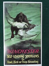 Winchester Firearms Advertising Poster Shotguns Duck Hunting