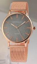 Unisex Armbanduhren mit Edelstahl-Armband und Mineralglas