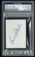 Larry Blyden (d 1972) signed autograph 2x3 cut Host: What's My Line? PSA Slabbed