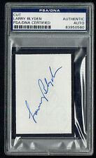 Larry Blyden (d 1972) signed autograph 2x3 cut Host: What's My Line? PSA Slabbed