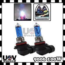 12v 100w 5000k White 2 x 9006 HB4 Fog Driving Light Bulb Power Gas Xenon Halogen