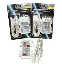 10er,20er,30er LED Lichterkette Batterie Warmweiß Lichter mit Timer Außen/Innen