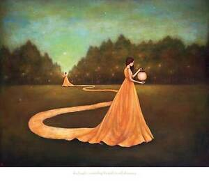 ART PRINT - Unwinding the Path to Self-Discovery by Duy Huynh Woman Poster 30x26