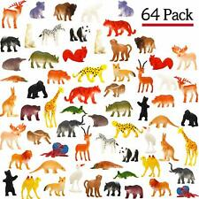 Animal Toy, 64 Pack Mini Wild Plastic Animals Models Toys Kit, Funcorn Toys Jung
