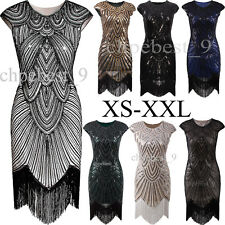Women's Dresses 1920s Flapper Dress Sequins Beaded Tassels Ball Gowns Plus Size