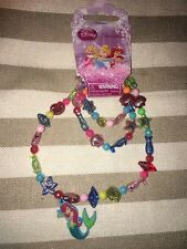 DISNEY LITTLE MERMAID  STRETCH NECKLACE & BRACLET SET  BNWT FREE POSTAGE (L)
