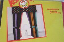Little Miss Matched ZANY STRIPE Drape Curtain Panels + Tiebacks Komboze 84 x 63