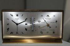 Seltenes Swiza 8 Tage Uhr mit Barometer und Wetterstation