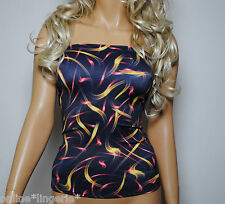 Boob Tube Long Top Black Orange Red Strapless 4-6 Lycra Club Party Bandeau W388