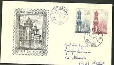 ITALIA BUSTA FDC ANNULLO PRIMO GIORNO 1958 FERRARA FDC MADONNA DI LOURDES