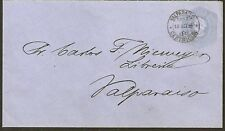 028 CHILE LOCAL POST PS STATIONERY COVER 1895 VALPARAISO