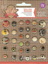 Allstar Collection Scrapbooking Brads PRIMA MARKETING INC., 32 pieces - 569631