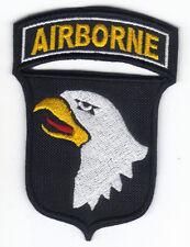 [Patch] AIRBORNE cm 6,5x9,5 nero toppa ricamo SCREAMING EAGLE ASSALTO AEREO -066