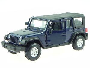 Jeep Wrangler Unltd Rubicon blue 09 diecast model car43012 Bburago1/32
