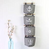 JW_ Practical Cotton Linen Wall Door Closet Hanging Storage Bag Sundries Organ