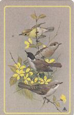 #113  1  single vintage single playing swap cards - Birds  - JS
