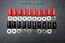 20 PCS 2 GAUGE RING TERMINALS 3/8 HOLE POWER RED BLACK CONNECTOR IB2GNRT