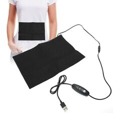 Electric USB Charging Cloth Heater Heating Pad Waist Belly Warming Mat Black
