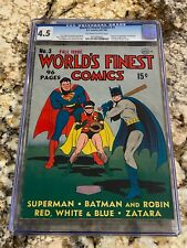WORLD'S FINEST COMICS #3 CGC 4.5 1ST SCARECROW SANDMAN BEGINS BATMAN SUPERMAN CV