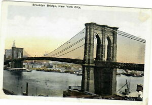 VINTAGE POSTCARD BROOKLYN BRIDGE NEW YORK