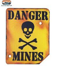Danger Mines Wooden Wall/ Door Plaque/ Sign for Children's/ Kids Room