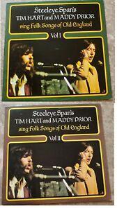 Tim Hart Maddy Prior Folk Songs Of England Vol. 1 & 2 Vinyl LP NM- CREST 23 26