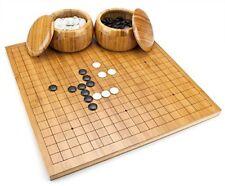 Full Size Go Set, Reversible Bamboo Board, Bowls, Bakelite Stones