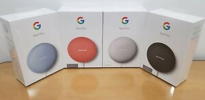 Brand New Google Nest Mini 2nd Generation Smart Speaker Coral Chalk Sky Charcoal