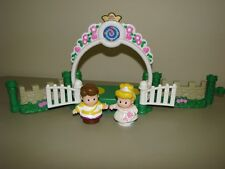 Fisher Price Little People Disney Princess Prince Bride Cinderella garden fence