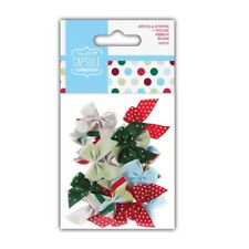 RIBBON BOWS - Spots & Stripes Festive Christmas Capsule Collection - Docrafts