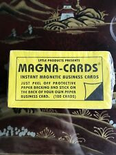 MAGNA CARD Self-adhesive Peel-and-Stick Business Card Magnets -100 Count NIP