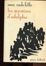 LES MYSTERES D'UDOLPHO par Ann RADCLIFFE 1966