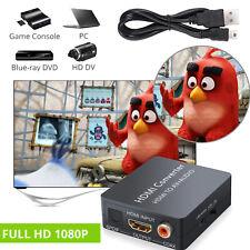 HDMI to AV 3RCA CVBS Composite Video Converter Toslink Coaxial Adapter PC Laptop
