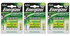 ENERGIZER Accu Recharge Power Plus 3 x4 Batteries (12) 700mAh Pre Charged NEW