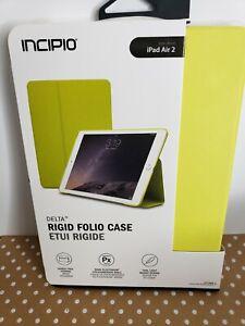 Brand NEW Incipio Delta Lime Rigid Shell Folio Case for Apple iPad Air 2