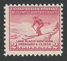 1932 III Third 3rd Olympic Winter Games Lake Placid NY Skier Skiing Stamp MINT!
