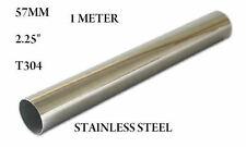 "57MM 2.25"" STAINLESS STEEL EXHAUST SILENCER REPAIR TUBE 1 METRE LONG"