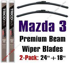 Mazda 3 / 3 Sport 2014+ Wipers 2-Pack Premium Beam Blades - 19240/19180
