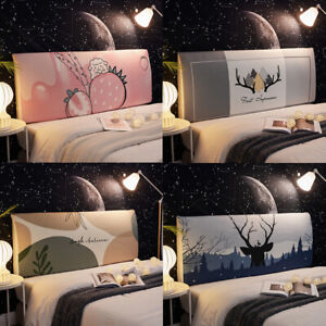Bedside Cover Washable Backrest Cover Elasticity Dust-Proof Bedspread
