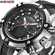 Weide Fashion Mens Sport Backlight LCD Analog Digital Date Day Alarm Wrist Watch