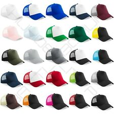 Trucker Baseball Cap Snapback Mesh Curved Mens Womens Sun Summer Hat