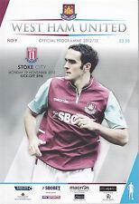 West Ham United V STOKE CITY 19/11/12 (2012-2013)