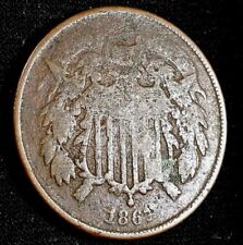 1867 Two Cent Piece  U S Copper Coin