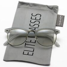 Elite Clubmaster Half Rim Women Eyeglasses Wayf Clear Lens Tinted Lenses