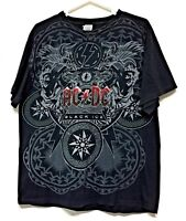 AC/DC Black Ice Men's Large 100% Pre Shrunk Cotton T-Shirt Size