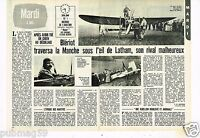 Coupure de presse Clipping 1977 (2 pages) Louis Blériot
