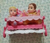 DISNEY AURORA & BELLE DOLL MY FIRST PRINCESS TWINSIES FEEDING SET TOLLY TOTS 4""
