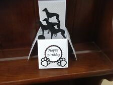 Pop up dog Greyhound themed card