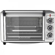 Electric Convection Oven Pizza Toaster Countertop Stainless Steel Black & Decker